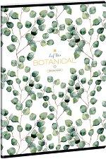 Ученическа тетрадка - Botanic Leaf  Формат А4 с широки редове -