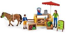 """Подвижен фермерски магазин - Комплект фигурки от серията """"Животни от фермата"""" -"""