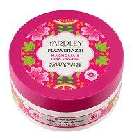 Yardley Flowerazzi Magnolia & Pink Orchid Moisturising Body Butter - Хидратиращо масло за тяло с аромат на магнолия и розова орхидея - дезодорант
