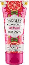 Yardley Flowerazzi Magnolia & Pink Orchid Nourishing Hand Cream - Подхранващ крем за ръце с аромат на магнолия и розова орхидея - дезодорант
