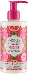Yardley Flowerazzi Magnolia & Pink Orchid Smoothing Body Lotion - Изглаждащ лосион за тяло с аромат на магнолия и розова орхидея - дезодорант