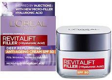 L'Oreal Revitalift Filler HA Anti-Age Day Cream - SPF 50 -