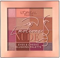 L'Oreal Emotions Nude Eyes & Cheeks Blushing Palette - Палитра със сенки за очи и ружове за лице -
