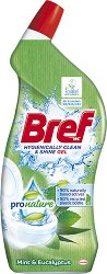 Почистващ препарат за тоалетна - Bref ProNature Gel - Разфасовка от 0.700 l - продукт
