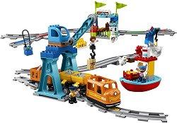 """Товарен влак - Детски конструктор от серията """"LEGO Duplo"""" -"""