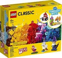 """Детски конструктор с прозрачни части в кутия - От серията """"LEGO Classic"""" -"""
