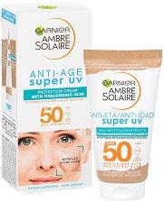 Garnier Ambre Solaire Anti-Age Super UV Protection Cream - SPF 50 - фон дьо тен