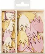 Дървени фигурки - Лалета - Комплект от 54 броя в кутия