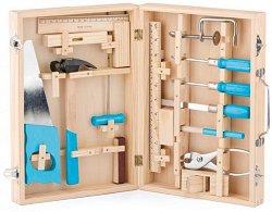 Куфарче с дървени инструменти - Детски комплект за игра -
