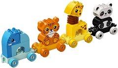 """My First - Влак с животни - Детски конструктор от серията """"LEGO Duplo"""" -"""