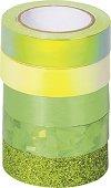 Зелено декоративно тиксо - Комплект от 5 броя