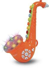 Мини саксофон с 8 клавиша - Детски музикален инструмент със светлинни ефекти -