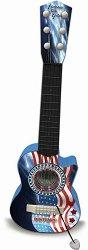 Електронна фолк китара - Детски музикален инструмент със светлинни ефекти -