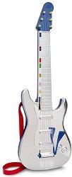 Рок китара с колан - Детски музикален инструмент с пластмасови струни -