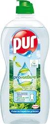 Препарат за миене на съдове - Pur ProNature - Разфасовка от 0.500 l - четка