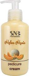 SNB Melon Mania Pedicure Cream - Крем за крака с аромат на пъпеш - крем