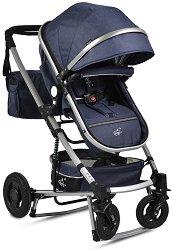 Комбинирана бебешка количка - Gigi - С 4 колела и люлеещ механизъм -