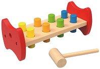 Чукче с наковалня - Детска дървена играчка -