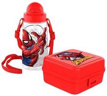 Комплект бутилка и кутия за храна - Спайдърмен - кутия за храна