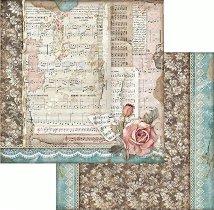 Хартия за скрапбукинг - Музика и рози