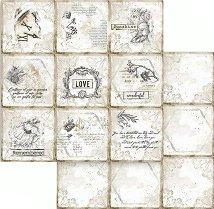 Хартия за скрапбукинг - Романтични карти