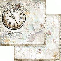 Хартия за скрапбукинг - Часовник