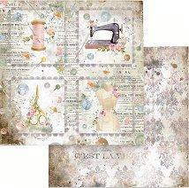 Хартия за скрапбукинг - Шивашко ателие: квадратни етикети