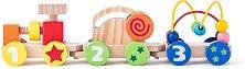Дървено цветно влакче - Моторика -