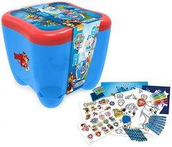 Детски комплект за оцветяване - Пес патрул - басейн