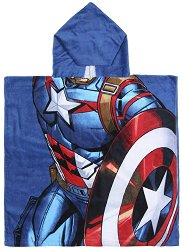 Детски халат тип пончо - Капитан Америка -