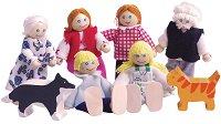 Дървени куклички - Щастливо семейство -