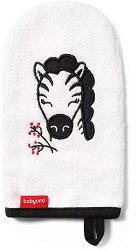 Детска ръкавица за баня с бамбук - Зебра -