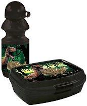 Комплект бутилка и кутия за храна - Dinosaurs -