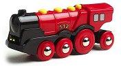 Детски локомотив - Mighty - Дървена играчка - играчка
