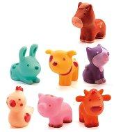 Животни от фермата - Комплект гумени играчки - несесер