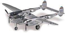 Военен изтребител - P-38J Lightning - Сглобяем авиомодел - продукт