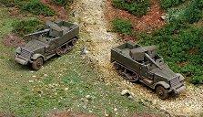 Два военни камиона с оръдие - M3 - Сглобяеми модели -