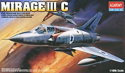 Военен самолет - Mirage III C - Сглобяем авиомодел - макет