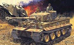 Немски танк - German Tiger I Mid - Сглобяем модел - макет