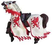 Конят на рицаря на Червения дракон - Фигура от серията Рицари - фигура