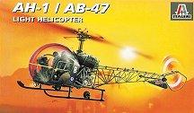 Военен хеликоптер - AH.1 / AB-47 - Сглобяем авиомодел - макет