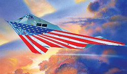 Военен самолет - F-117A Nighthawk Stars and Stripes - Сглобяем авиомодел - макет