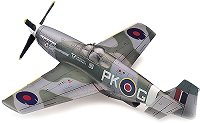 Военен самолет - P-51B Mustang - Сглобяем авиомодел - макет