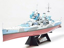 Военен кораб - British Battleship King George V - Сглобяем модел -