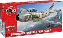 Военен самолет - North American F-86F/E(M) Sabre - Сглобяем авиомодел -