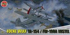 Военен самолет - Focke Wulf TA-154 / FW-190A Mistel - Сглобяем авиомодел -