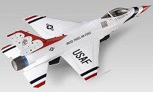 Военен самолет - F-16C Thunderbirds - Сглобяем авиомодел -