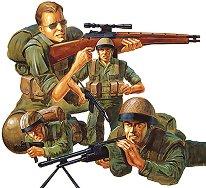 Войници от I.D.F. съвременна пехотна войска - Комплект от четири сглобяеми фигури - макет
