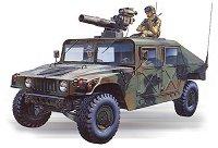 Военен джип с оръдие и ракетоносач - M966 Tow Missile Carrier - Сглобяем модел -