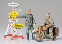 Немски войници с мотор - Комплект фигури и сглобяем модел -